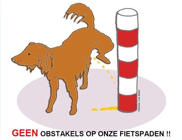 Geen obstakels voor fietsers