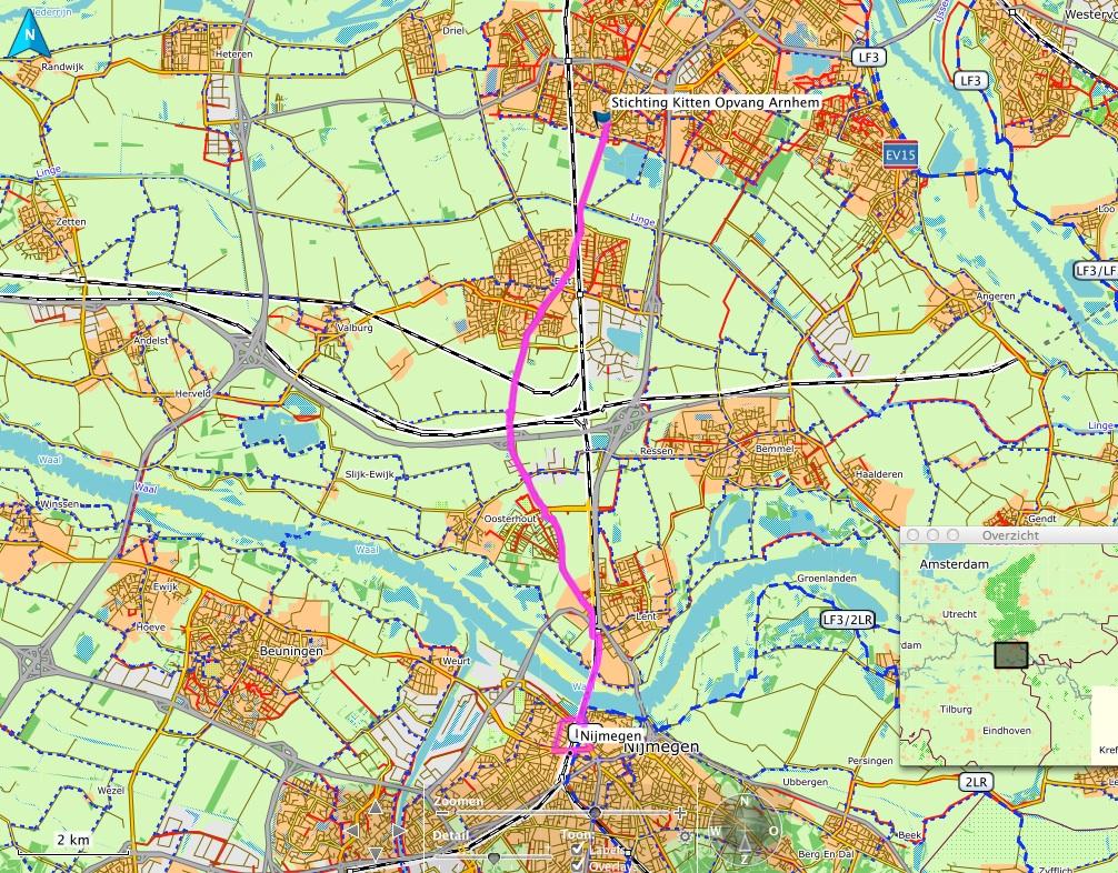 Open Fietsmap in Basecamp