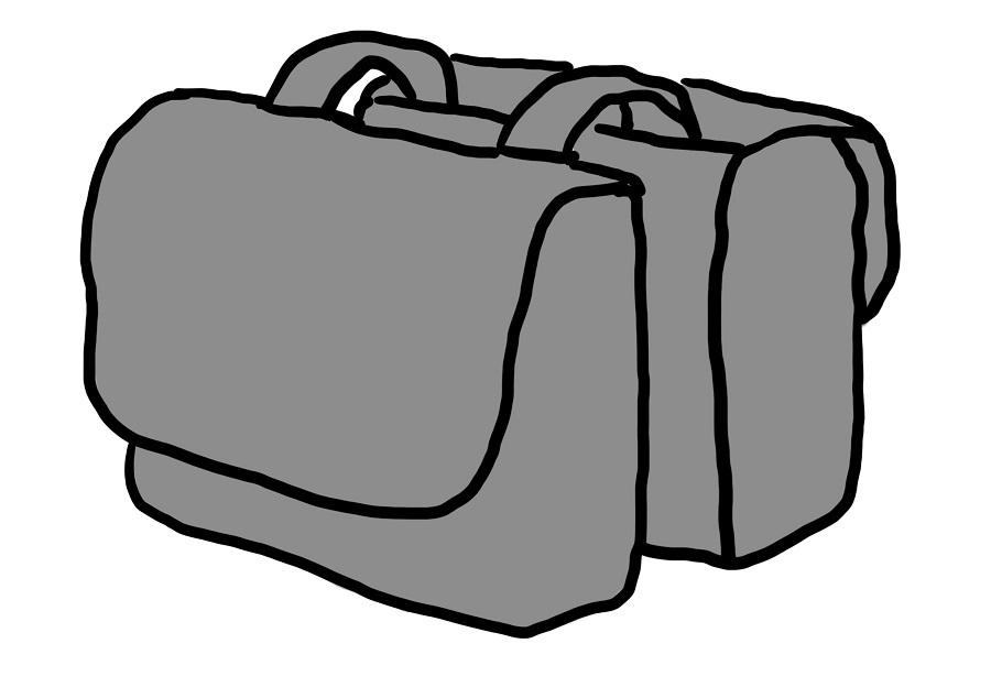 Tas met open verbinding