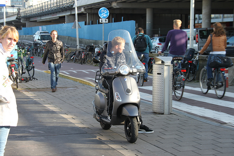 Scooter in Amsterdam