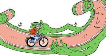 vergevingsgezind fietspad