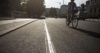 Volksentscheid Fahrrad in Berlin. Mauerweg in Berlin-Mitte. Foto: Steffen Roth