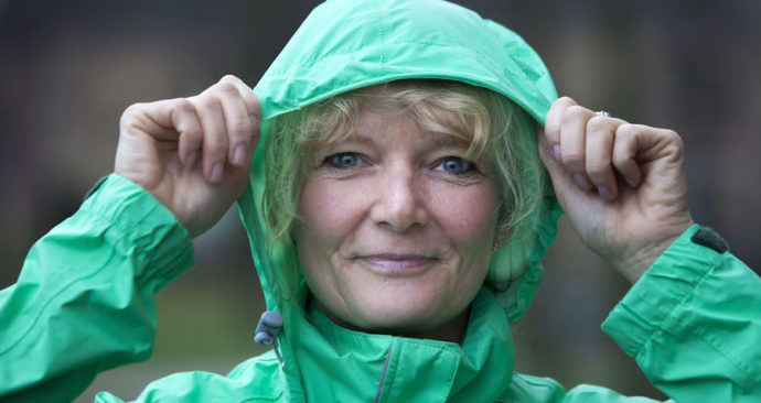 Regenkledingtester Marieke Strijk