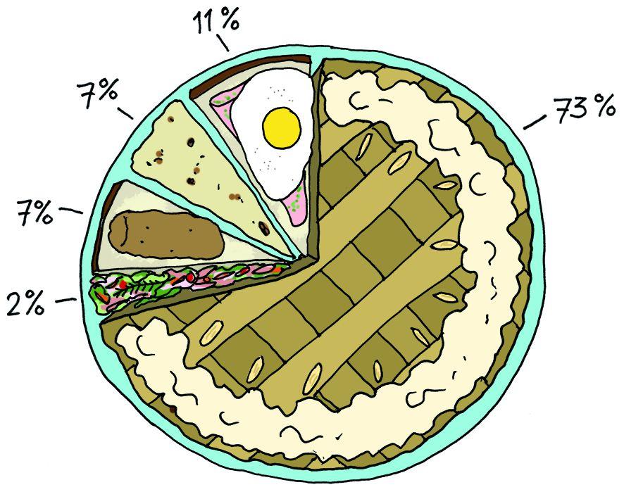 Infographic taart