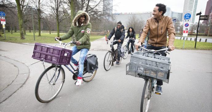 eritreeers op de fiets