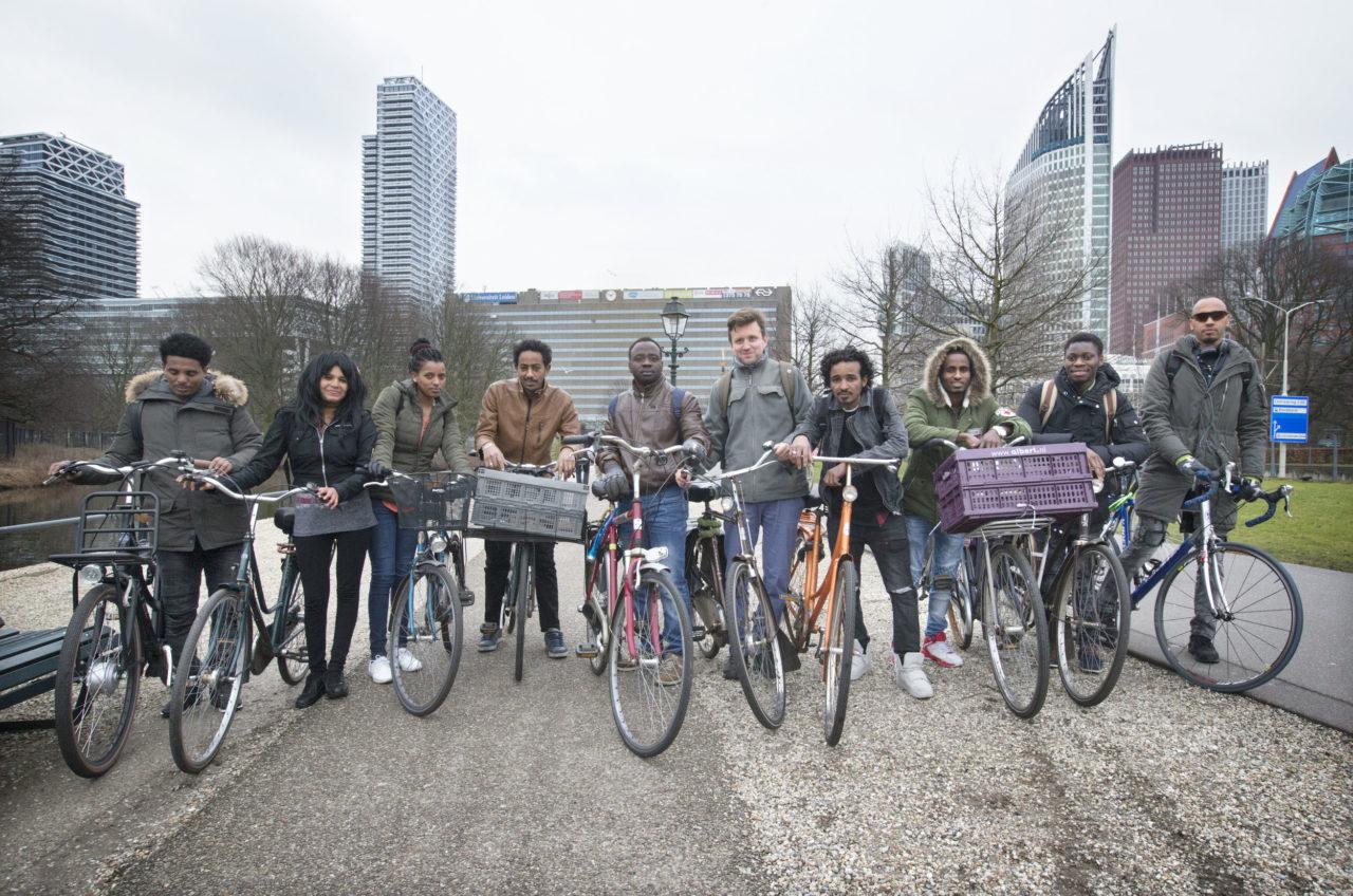Eritreeërs zijn dol op fietsen