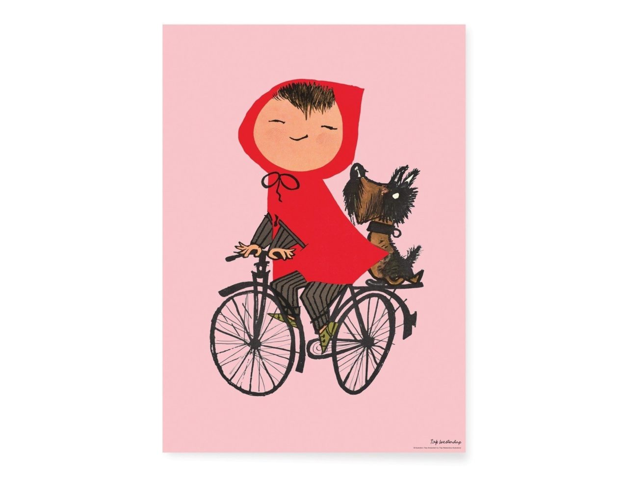 Poster van meisje op de fiets