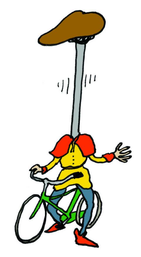 automatisch zakkend zadel, fietsersbond