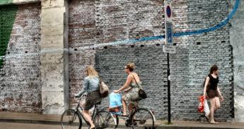 Fietsers in de omgeving van station Tilburg