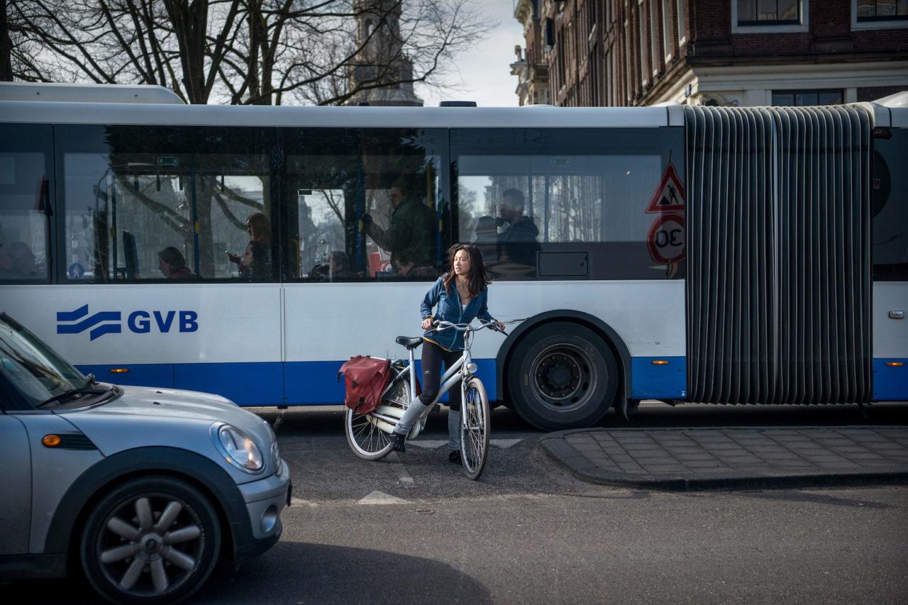 oversteken met de fiets