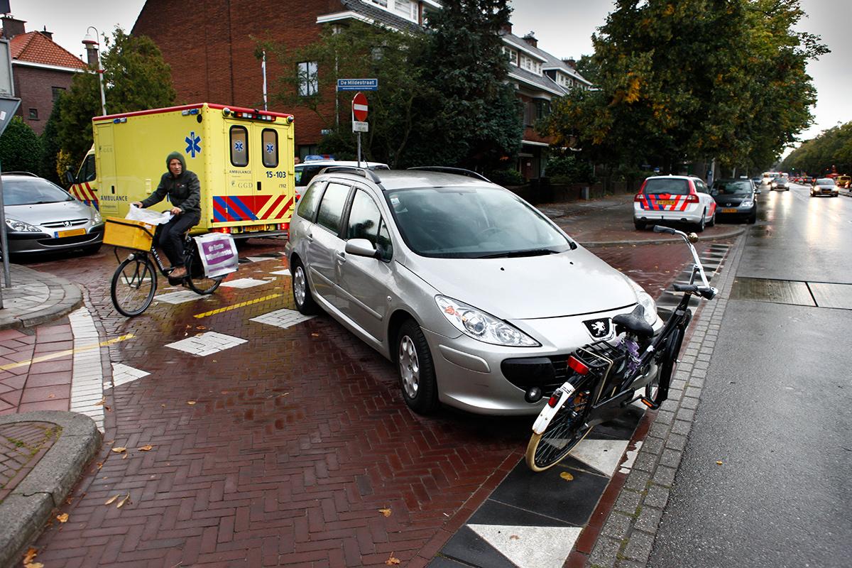 Ongeval tussen auto en fietser