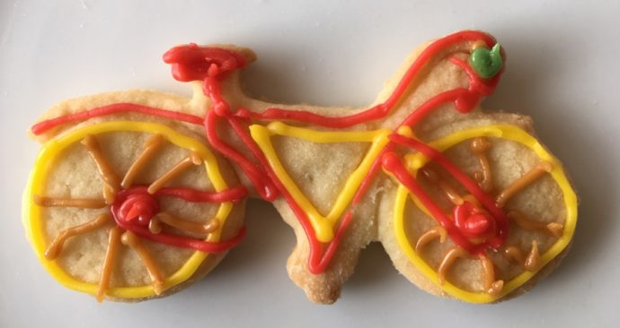 Flitsend rood fietskoekie
