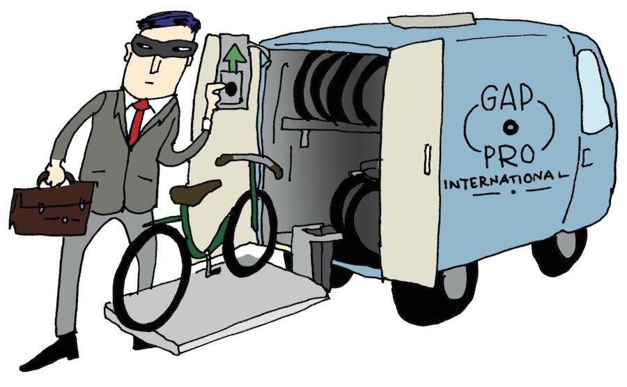 Illustratie van moderne fietsendief