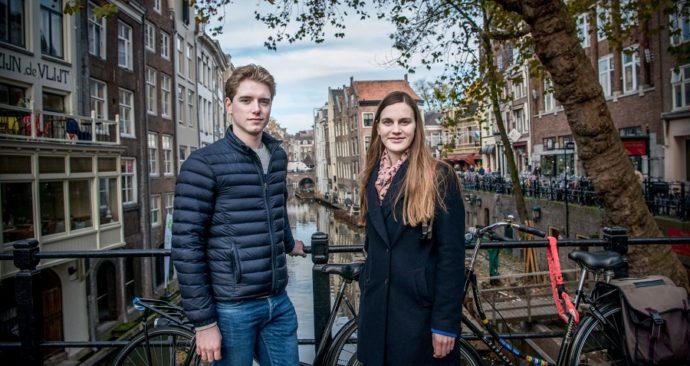 Rob van den Enk en Roxanne ter Haar van Vidius in Utrecht