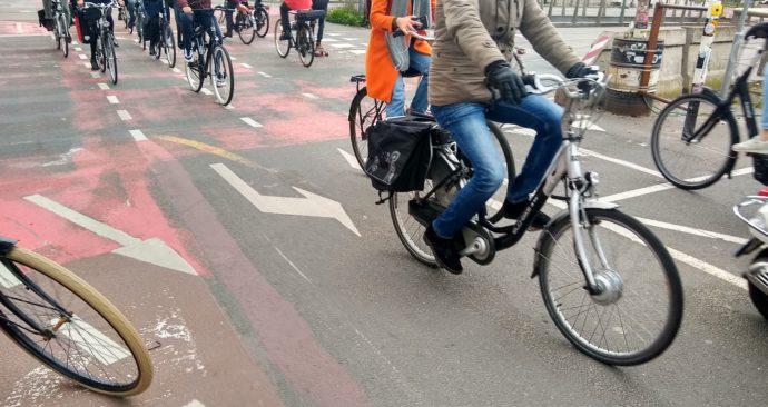 druk fietspad