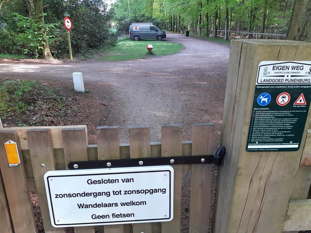 verboden voor fietsers