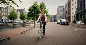 fietser fietsstad