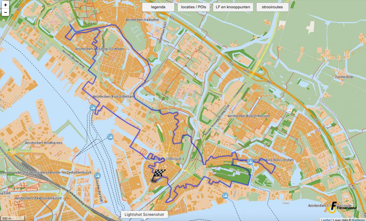 kaart in de Routeplanner