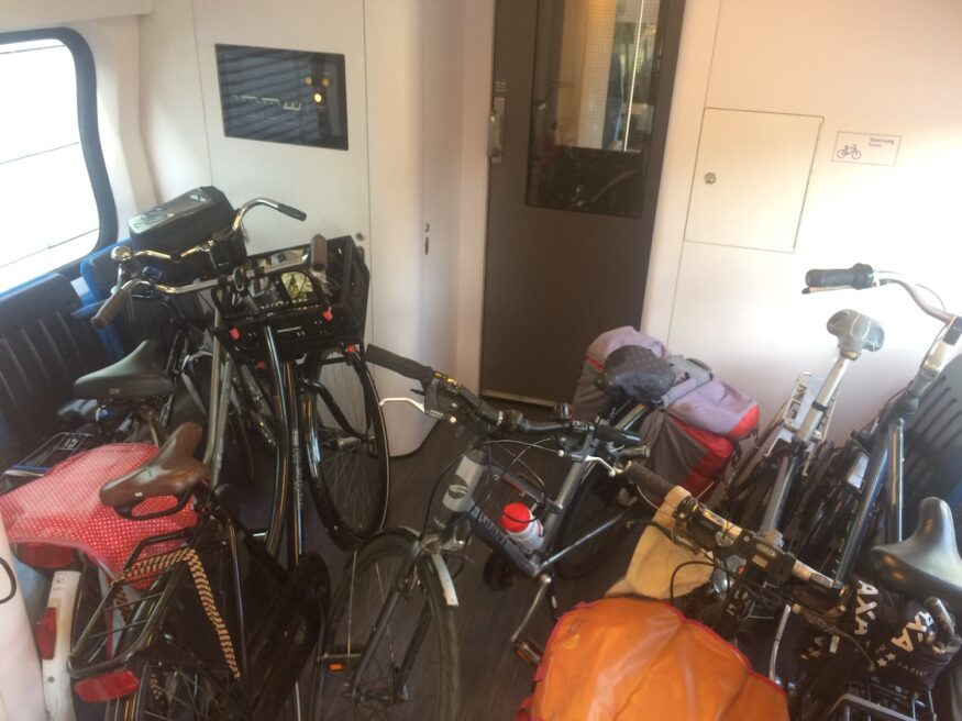 fiets in de trein