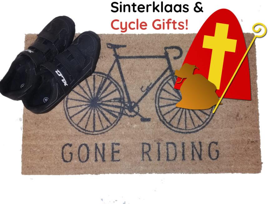 Deurmat met de tekst 'gone riding'