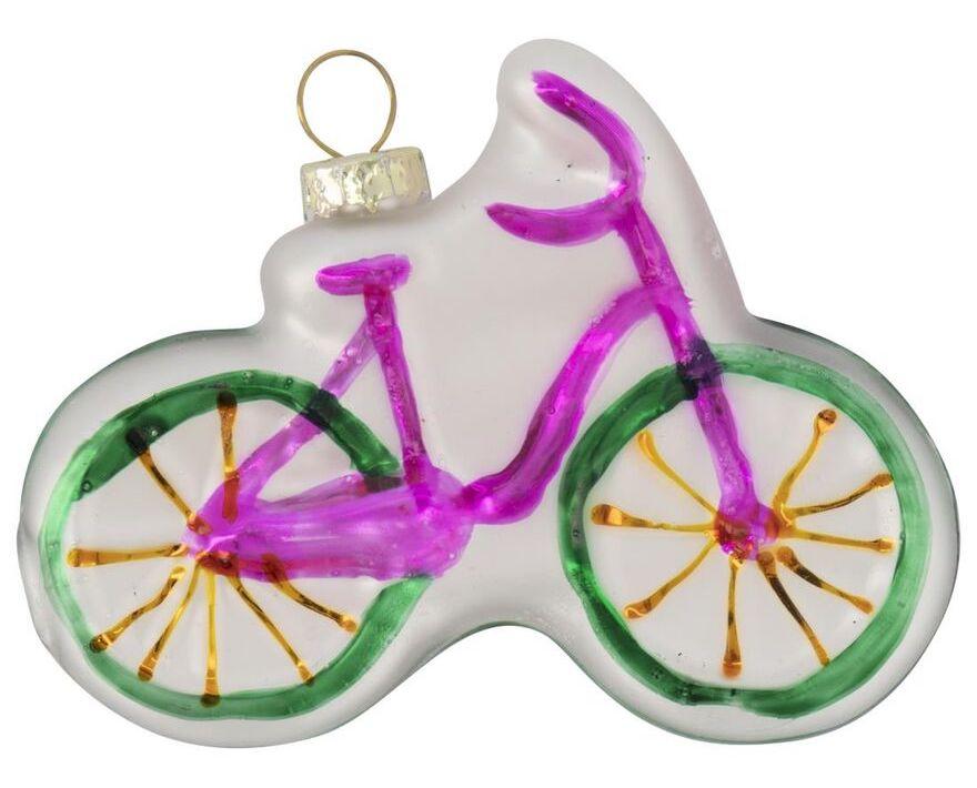 Kerstbal in de vorm van een fiets