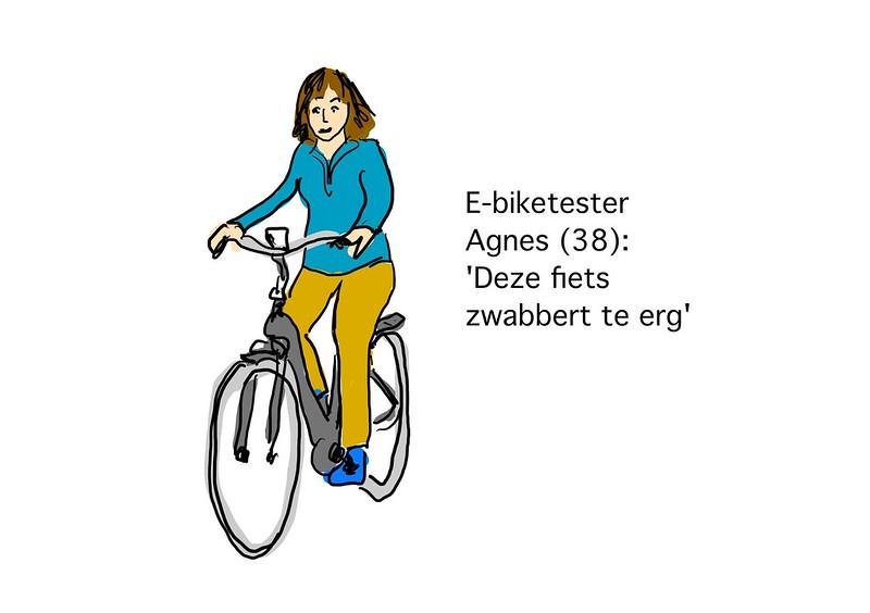E-biketester Agnes zegt: Deze fiets zwabbert