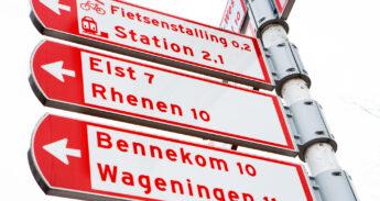 Bewegwijzering in Veenendaal