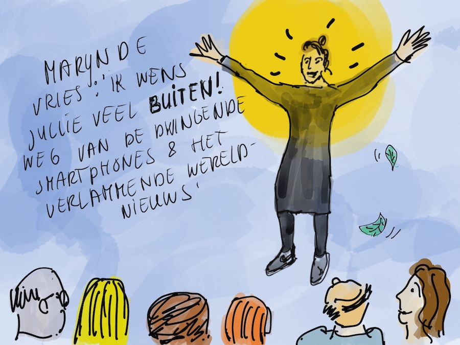 Marijn de Vries wenst iedereen veel 'buiten'