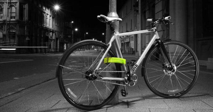 Foto van fiets die vaststaat met Litelok