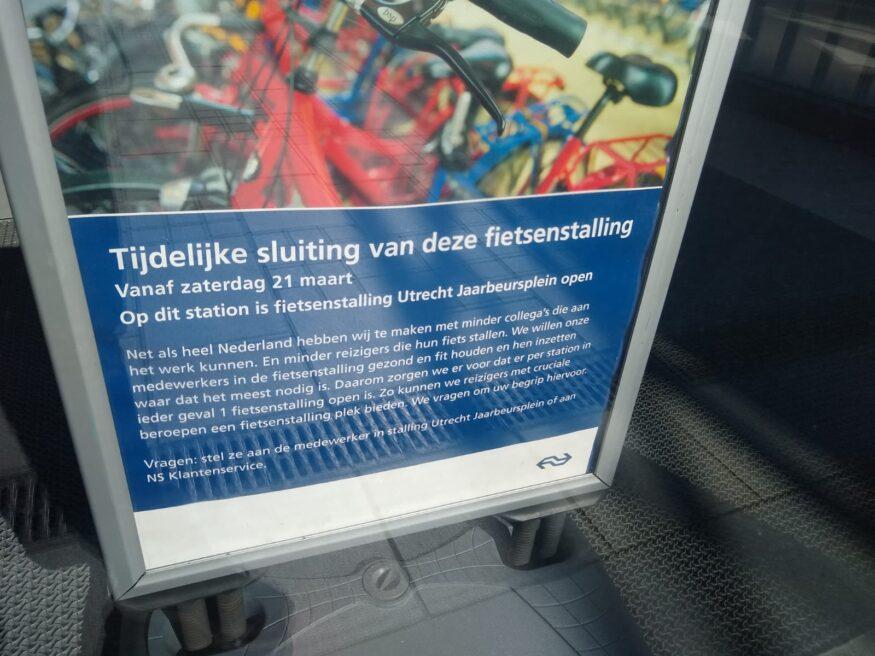 De gesloten fietsenstalling Knoop in Utrecht