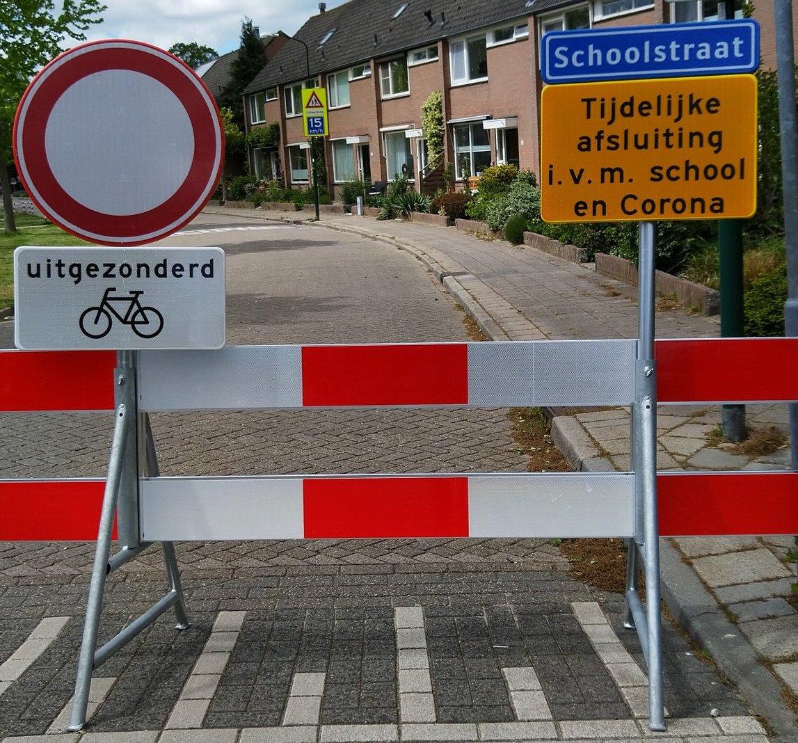 Schoolstraat gesloten voor auto's