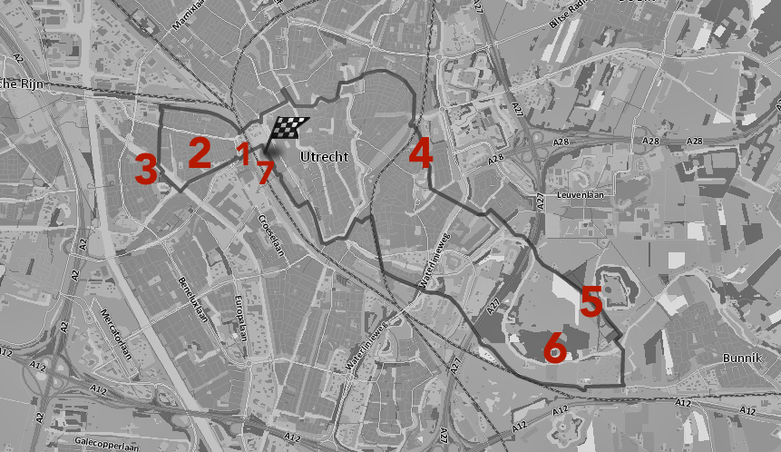 kaartje met cijfers van stationsrondje