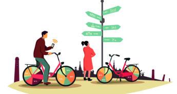 fietsende toeristen amsterdam