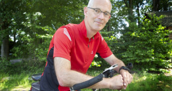 Portret van Joost Verbeek met fiets