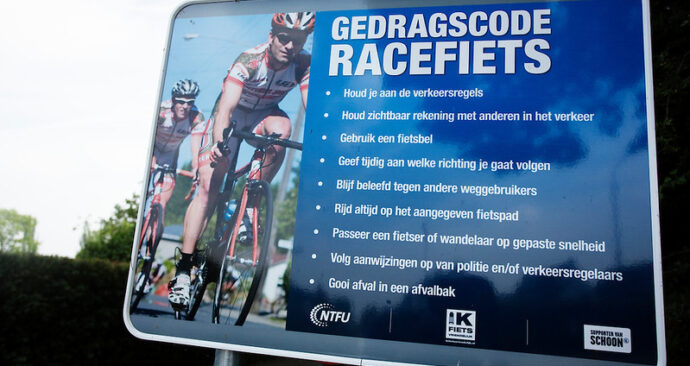 wielrenners gedragscode