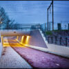Verlichte fietstunnel in Veenendaal