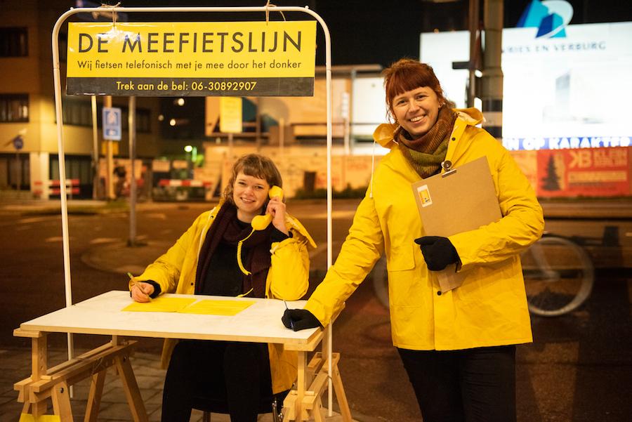 Lisa Strijbosch en Maartje de Goede runnen de Meefietslijn