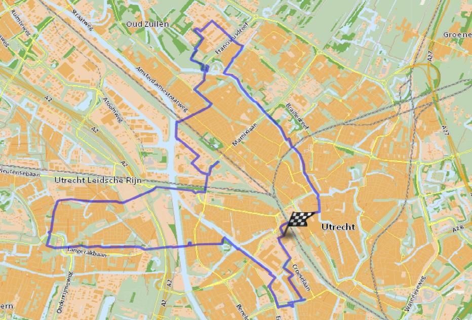 kaart bierroute Utrecht