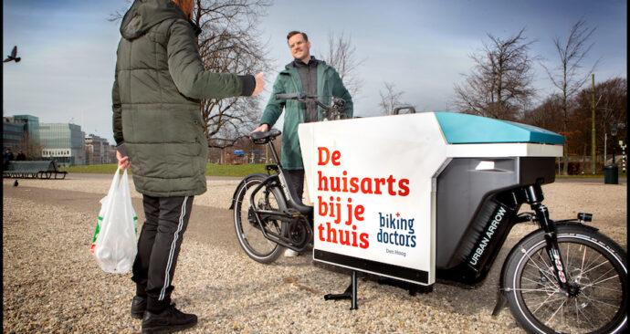 Arts & bakfiets Biking doctor Joep ter Haar