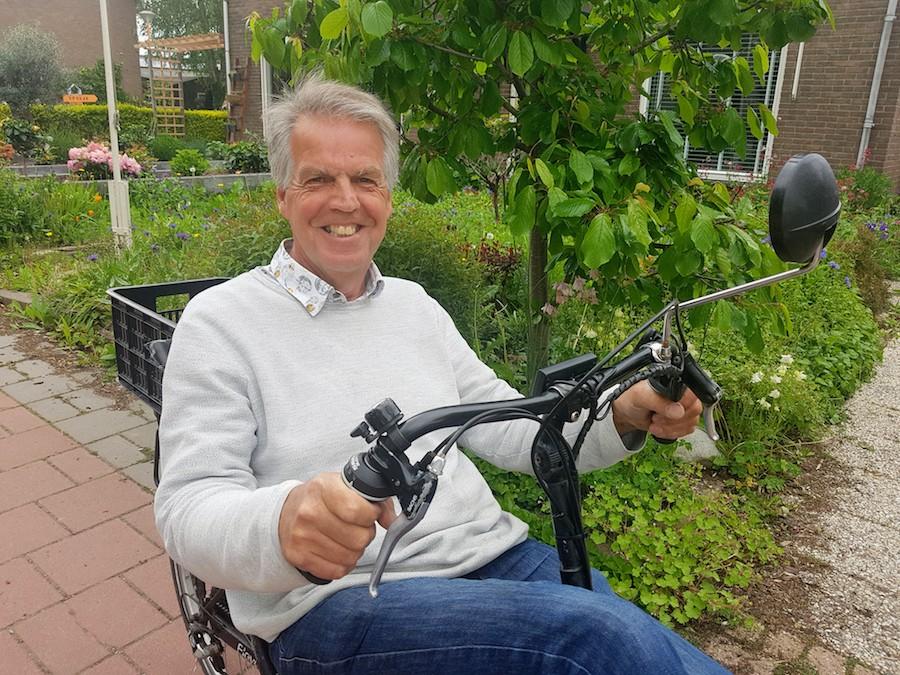 Portret op fiets