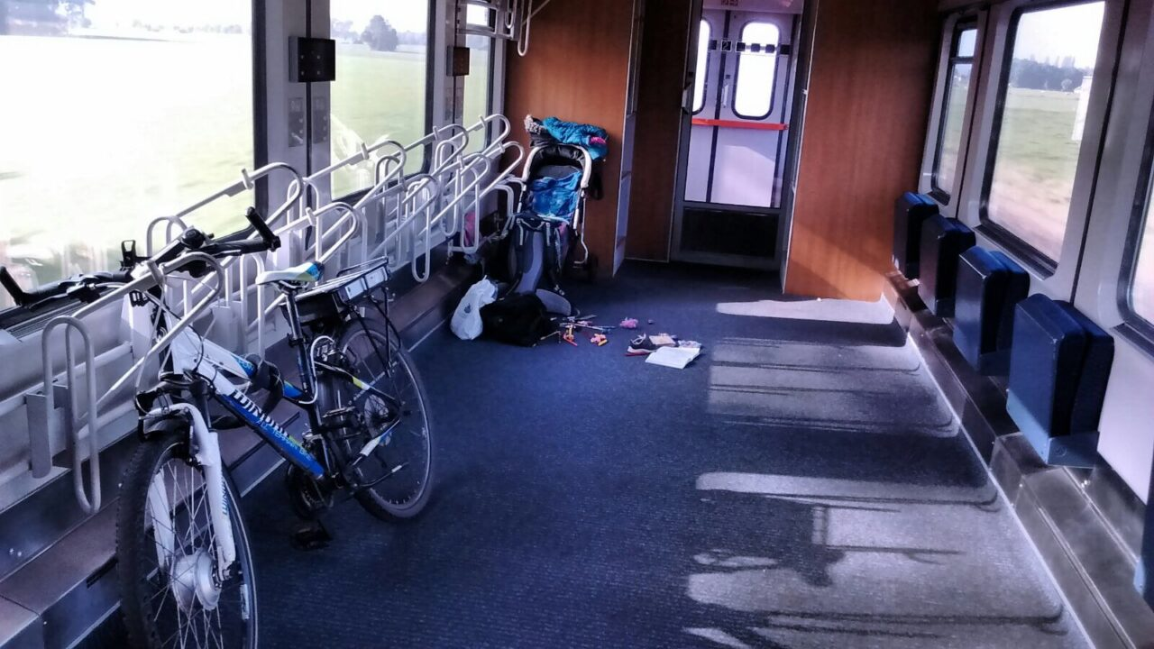 fiets in Duitse trein
