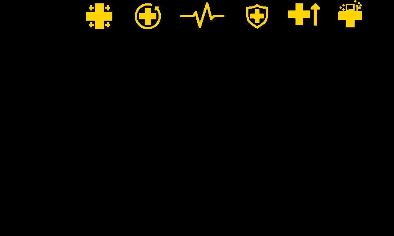 Schema aandoeningen op wit