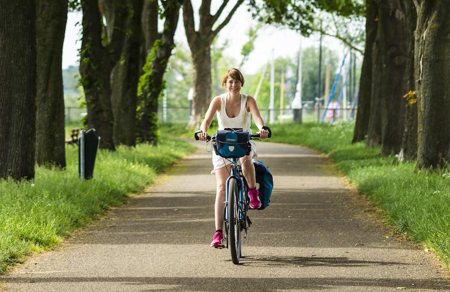 fietsen in de zomer