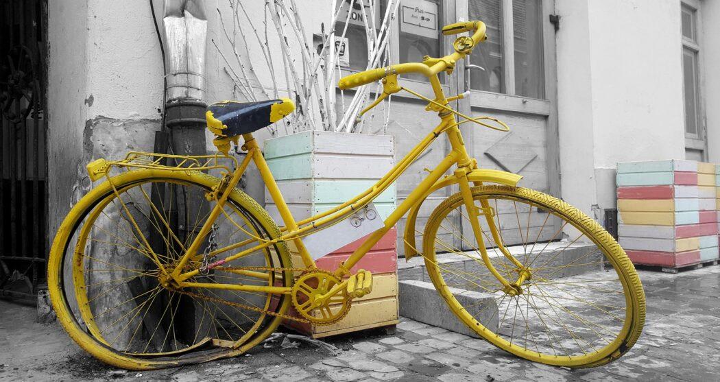 Gele Fiets vintage-bike-2095828_1920