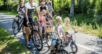 3 generaties op de fiets