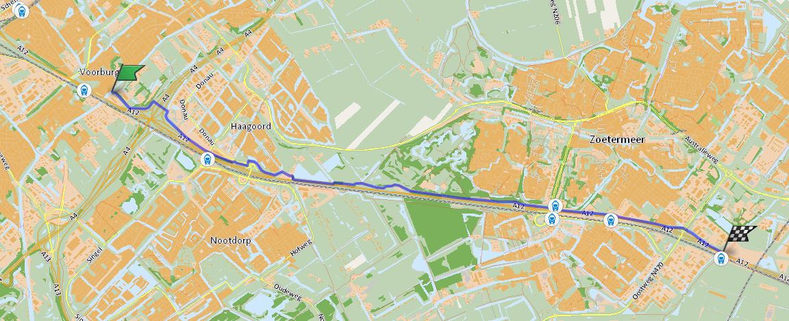 Snelfietsroute Den Haag - Zoetermeer