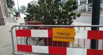 Extra parlkeerplaatsen voor fietsen op zaterdag