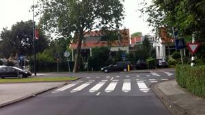 De kruising Molenlaan en Burgemeester van Kempensingel voor fietsers die in zuid-oostelijke richting fietsen is een Black Spot