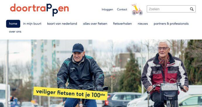 Veiliger fietsen tot je 100ste, doortrappen.nl