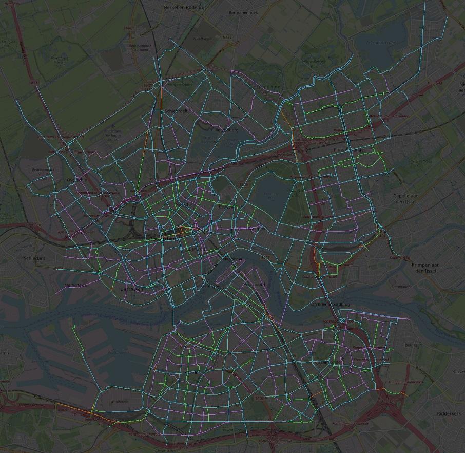 Fietsroutenetwerk Rotterdam